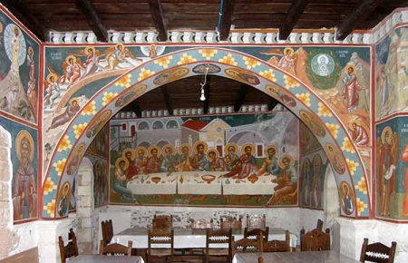 Monastery of Toplou, Dining hall